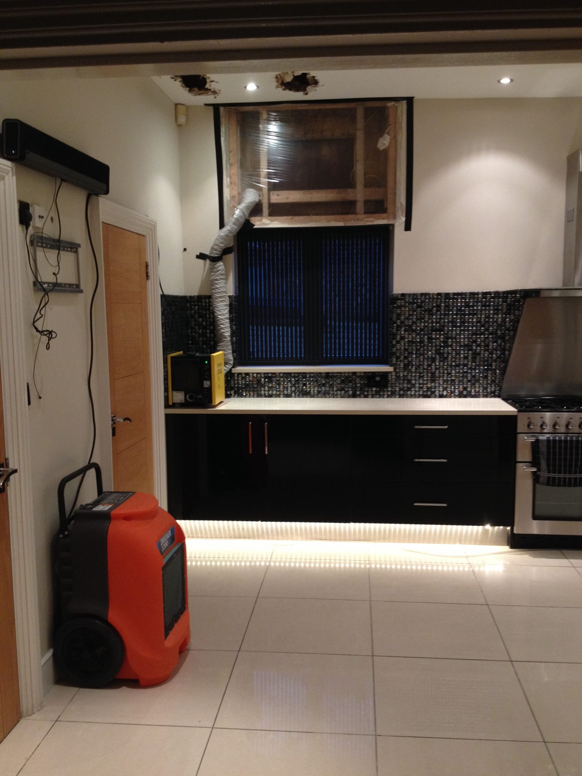 drying equipment in residential property