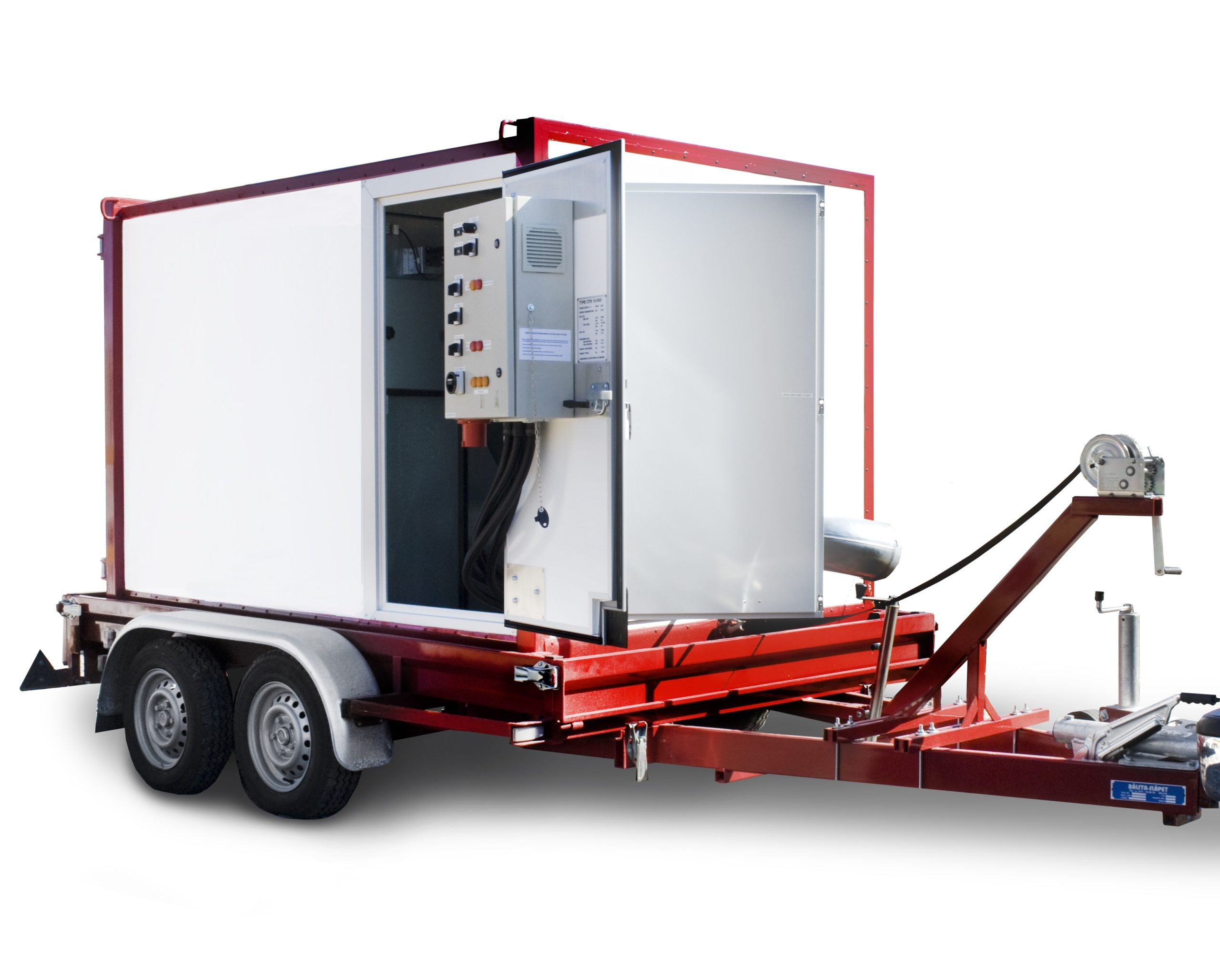 trailer mounted mobile heater