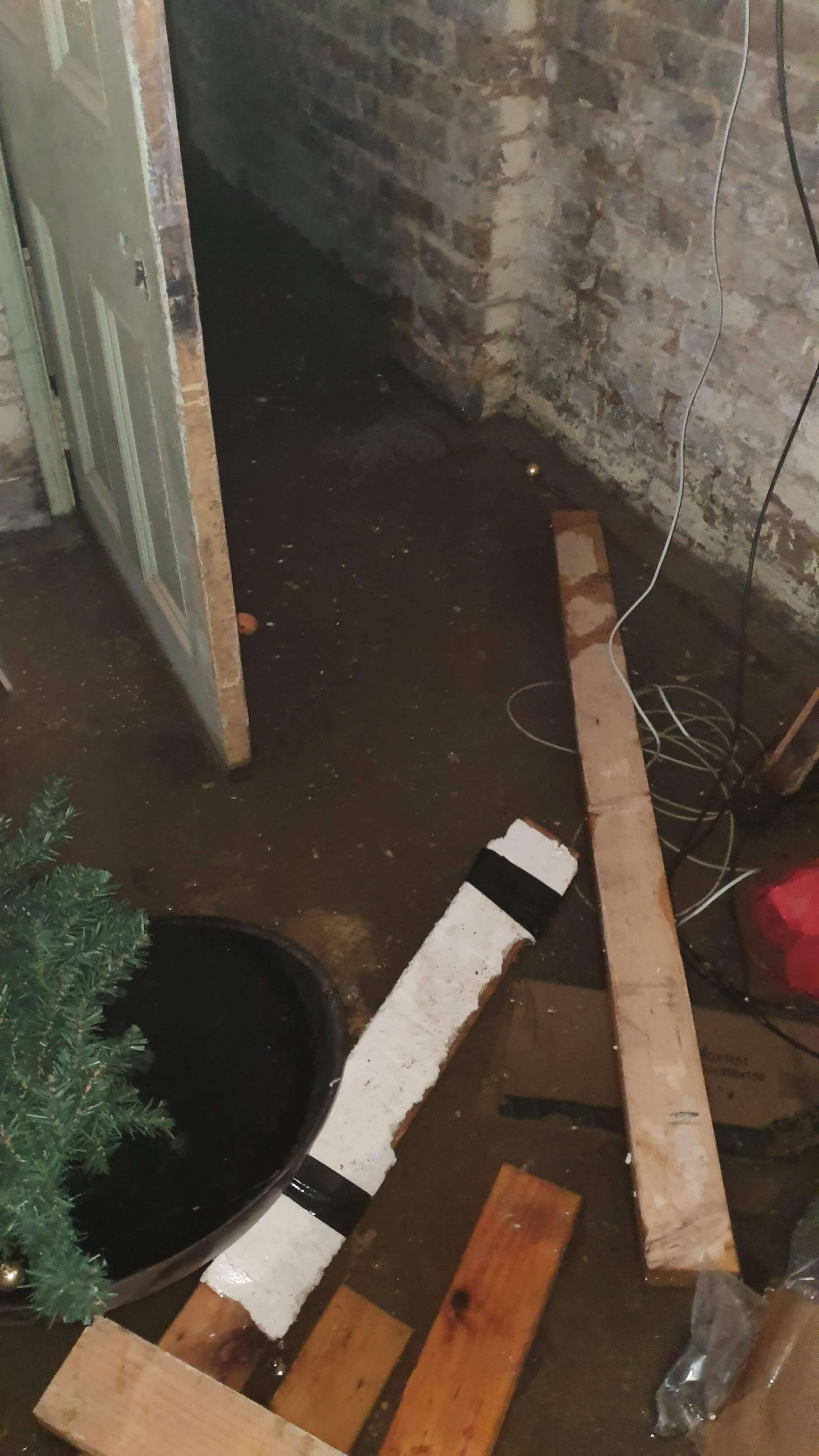 Flooded basement in residential property