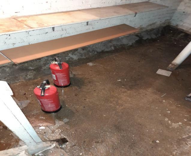 sewage damage in residential basement