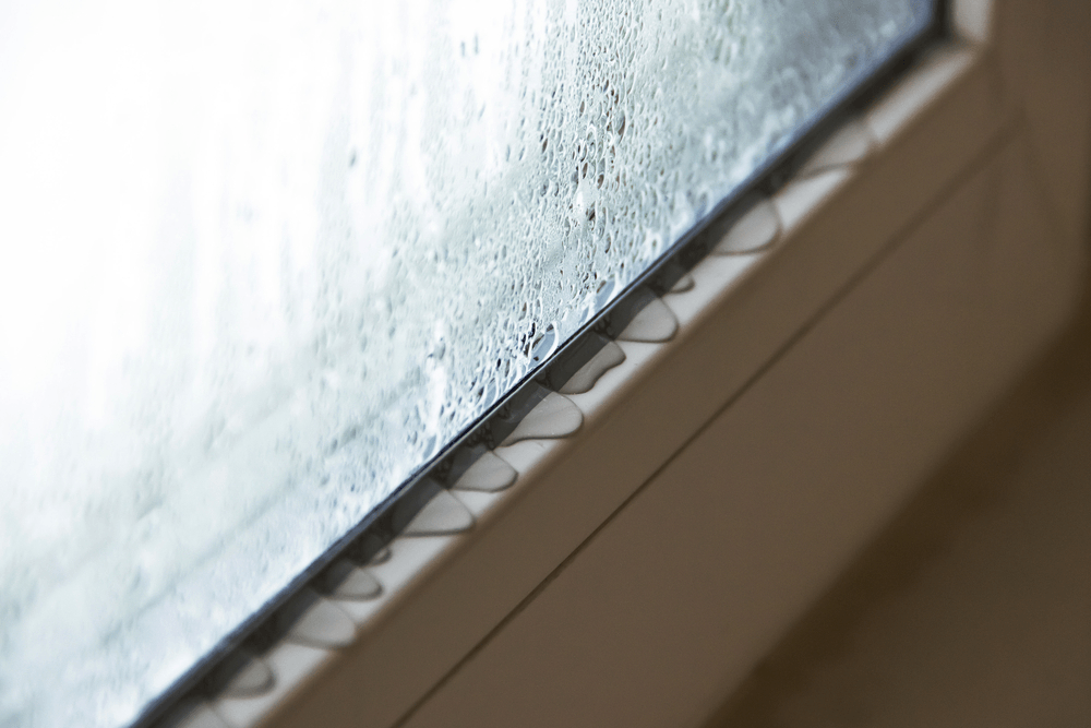 Condensation on the inside of a customer's window